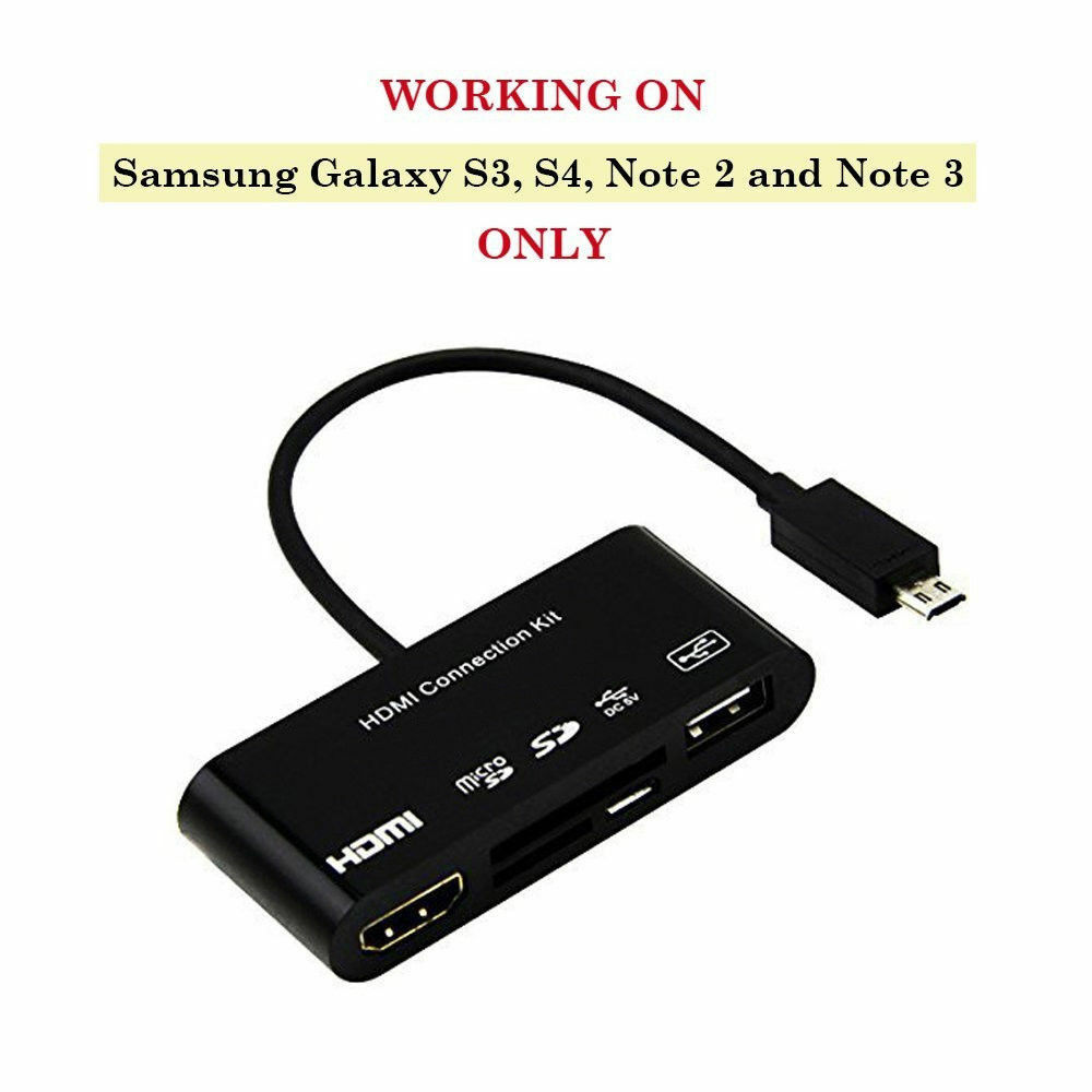 Black Micro USB to OTG Works with Sony F3111 Direct On-The-Go Connection Kit and Cable Adapter!