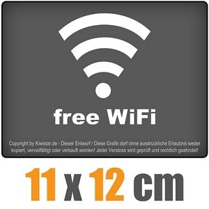 Free-WiFi-11-x-12-cm-JDM-decal-sticker-coche-car-blanco-discos-pegatinas