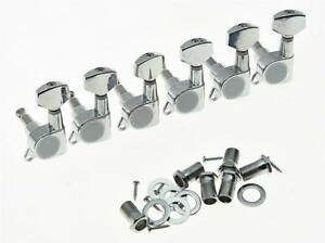 lefty 6 inline tuning keys guitar tuners left handed machine heads chrome 759883980816 ebay
