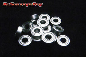 Tamiya Sand Scorcher Bearing Set 12 x Sealed Rubber Bearings 58452 /& 58016