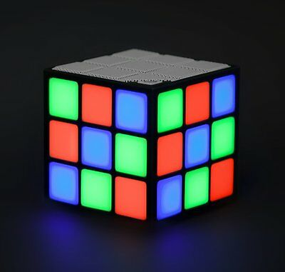 Thumbs Up LED CUBE SPEAKER Bluetooth Colour Changing to Music DISCO LIGHT
