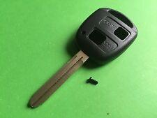 für Toyota RAV4 Yaris Prius 2 Knopf Fernbedienung Hülle Gehäuse & Schlüsselblatt