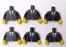Lego 6 Torso Body For Minifigure Figure Black Suit  Jacket Saxophone  Series