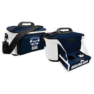 AFL-Drink-Cooler-Bag-With-Tray-Geelong-Cats-Aussie-Rules-Zip-Pocket