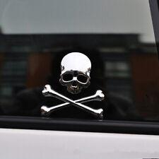 1x Car 3d Chrome Metal Skull Head Logo Sticker Emblem Badge Decal Auto Accessory Fits 2004 Volkswagen Beetle