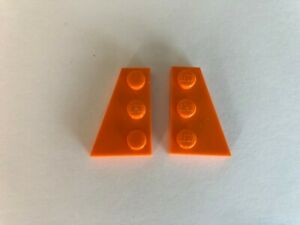 43722 /& 43723 GREEN Wedges 2x3 Right /& Left Wing Plates LEGO Parts