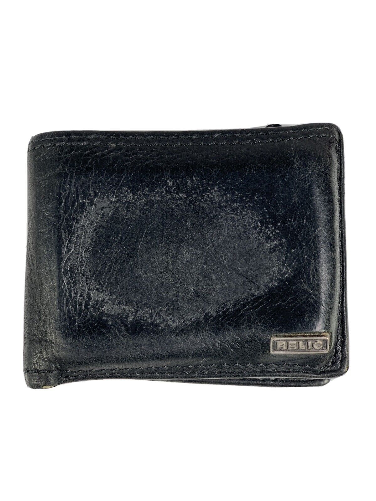 Mens Tri-Fold USED and WELL WORN in Wallet RELIC branding