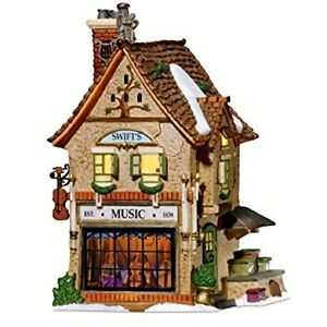 Dept-56-Dicken-039-s-Village-034-SWIFT-039-S-STRINGED-INSTRUMENTS-034-Lit-3-D-Interior-Scene