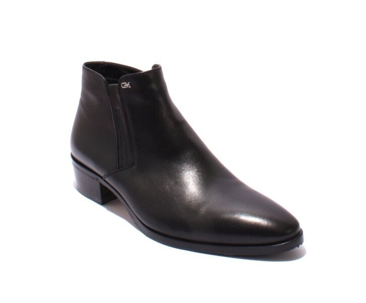 83e2babde64f GoodMan 42858 Black Leather Natural Fleece Zip-Up Classic Ankle Boots Boots  Boots 44   US 11 8fd607