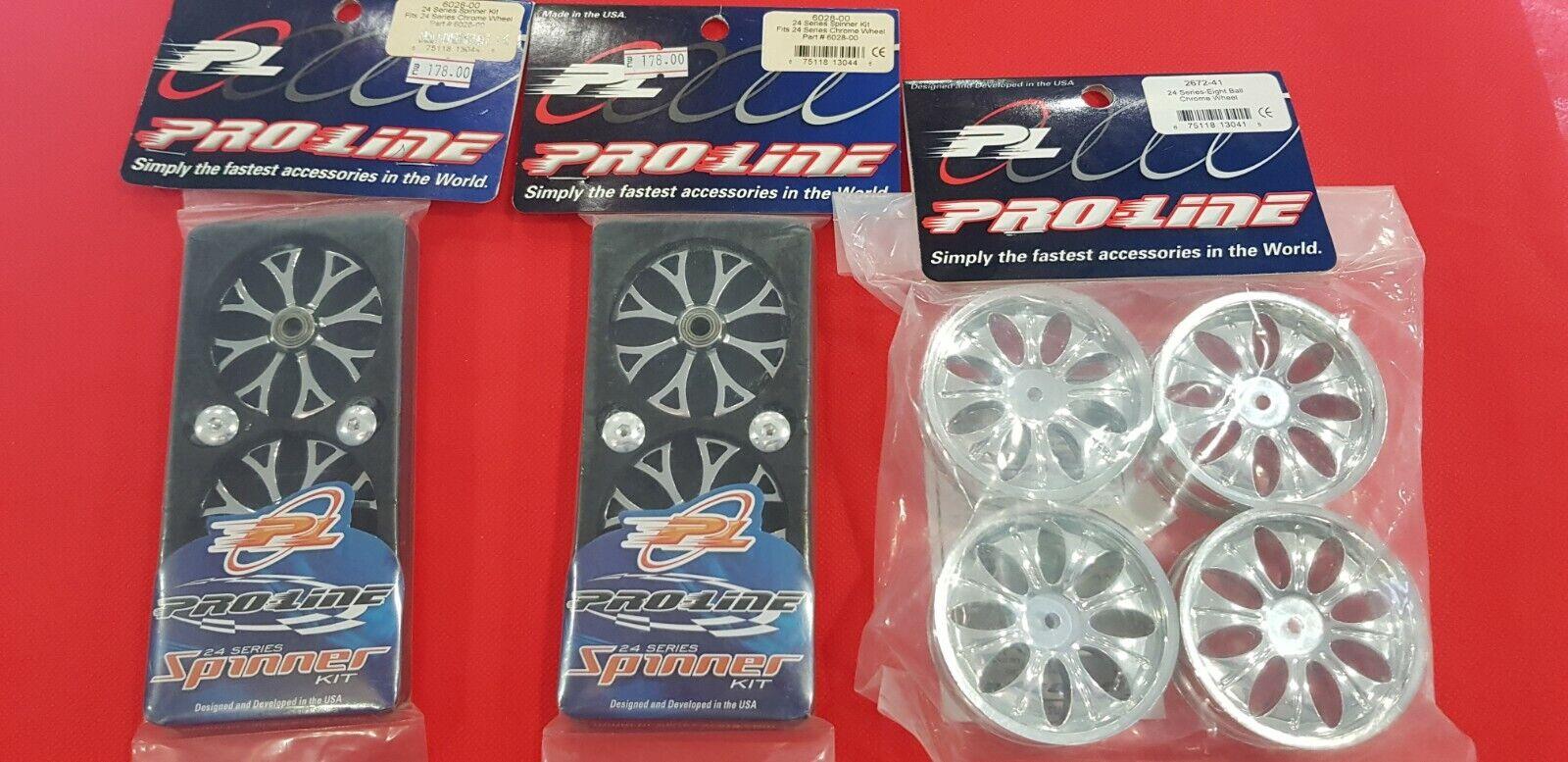 prezzi eccellenti Pro-Line 2 pair 24 TC Series Spinner 6028-00 6028-00 6028-00 + 24 TC ruedas 2672-41  in vendita