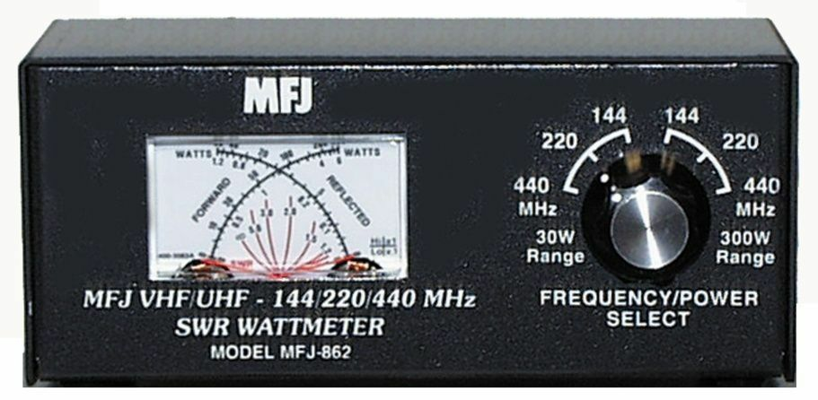 MFJ-862 SWR meter, 144/220/440MHz, 30/300W. Buy it now for 92.95