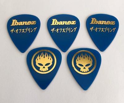 Heavy 1mm thick 5 Ibanez Genuine Blue SAND GRIP Guitar Picks Pick Plectrum