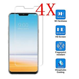 4X For LG G7 Tempered Glass Screen Protector 9H Hardness Clear Full Cover 1-4x