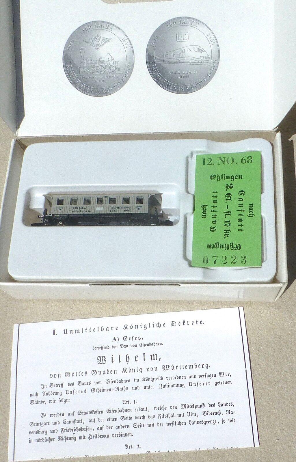 1995 Spielwarenmesse Eisenbahnen in Württemberg Märklin Spur Spur Spur Z 1 220 OVP     å    Sorgfältig ausgewählte Materialien  891008