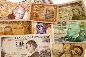 Lot-of-9-Portugal-Spain-Currency-Notes-1953-1998-VG-XF-Condition