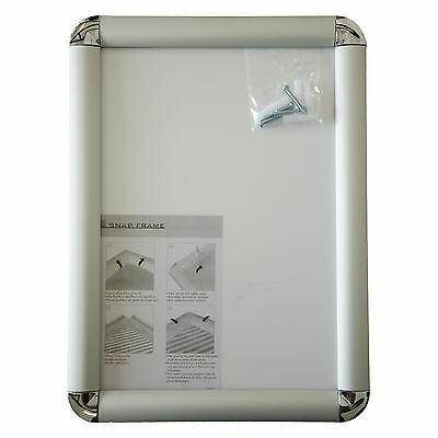 A4 Aluminium Snap Frames Poster Holder Retail Wall Notice Boards - Round Corners