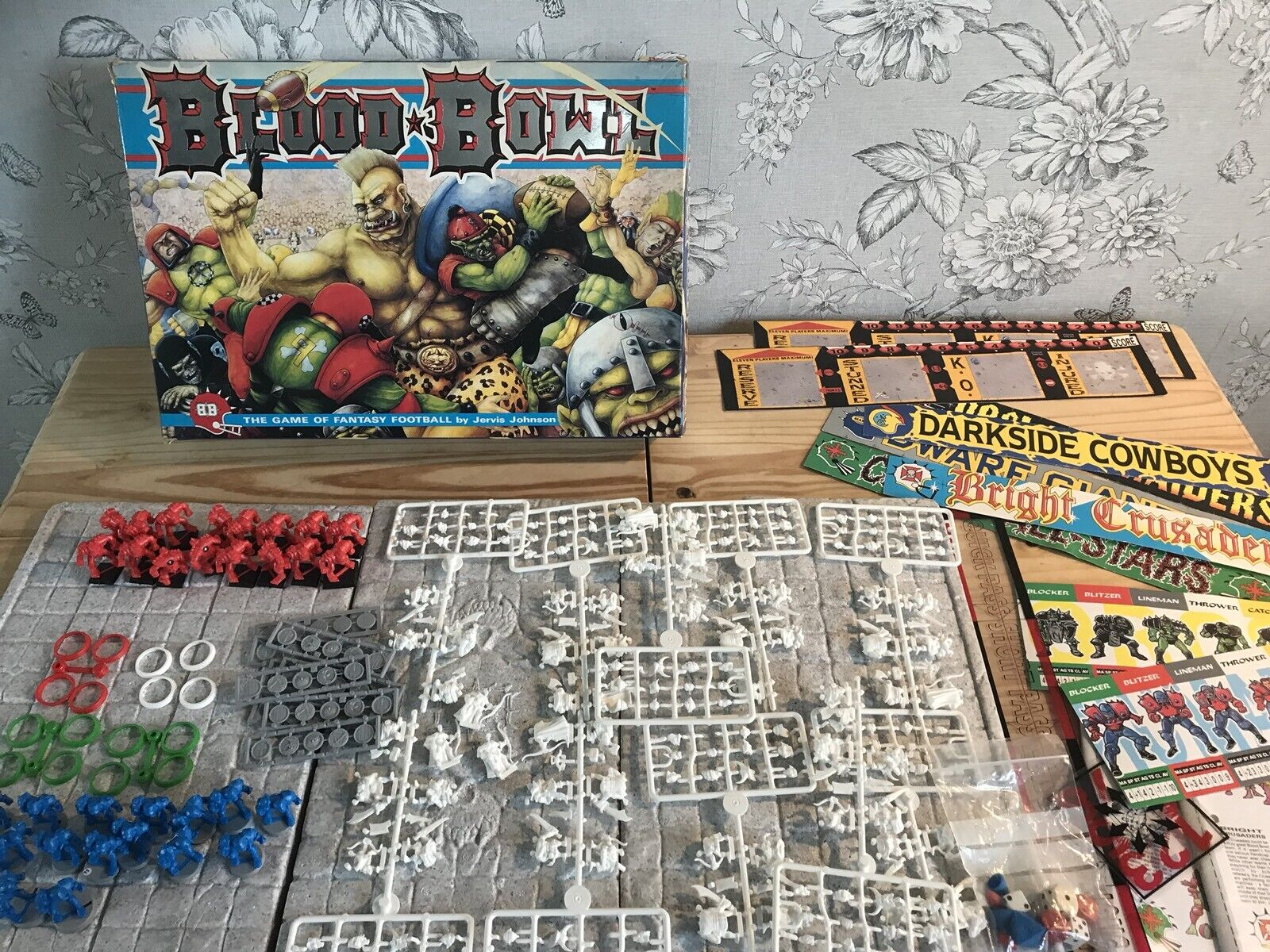 Vintage Games Workshop Bloodbowl Game Boxed Complete With Extras