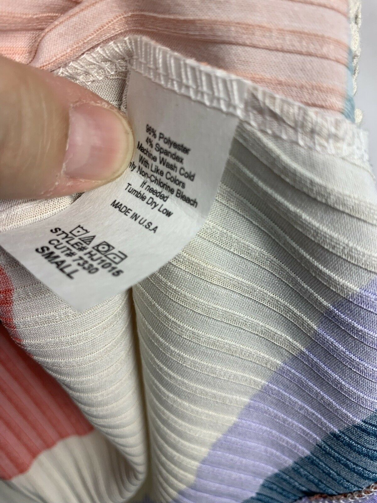 Hopely S Lilac Multicolor Stripe Lace Accent Ribb… - image 4