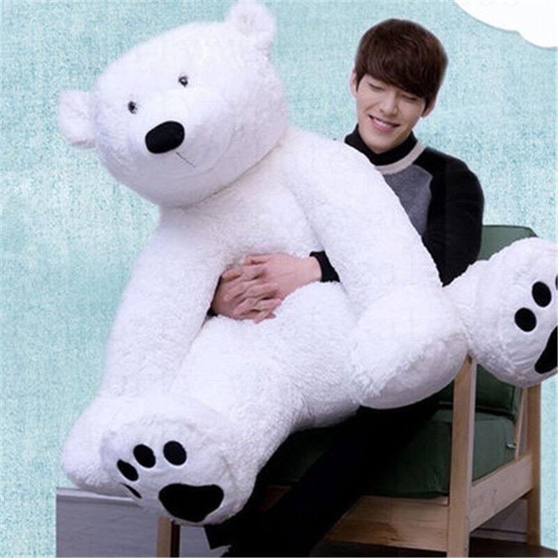 125cm Giant Stuffed Plush White Polar Bear Animal Bear Toy Doll Xmas Gift