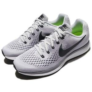 new product 23b57 899fe Image is loading Nike-Air-Zoom-Pegasus-34-Pure-Platinum-Anthracite-