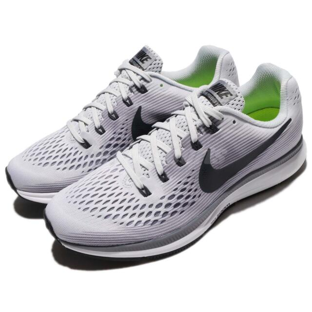 aaa36a7d5c Nike Air Zoom Pegasus 34 Pure Platinum Anthracite Men Running Shoes  880555-010