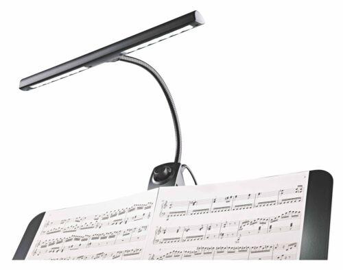 """K/&M 12295 Notenpultleuchte /""""Dimmer Light/"""" LED Dimmer Schwanenhals Orchester Band"""