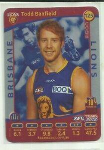 2012 AFL Teamcoach Trading Cards Prize Team set Brisbane 3