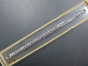 Long-SPEIDEL-Ladies-Vintage-10K-White-Gold-Filled-Watch-Band-5-3-4-034-10-034-Stretch