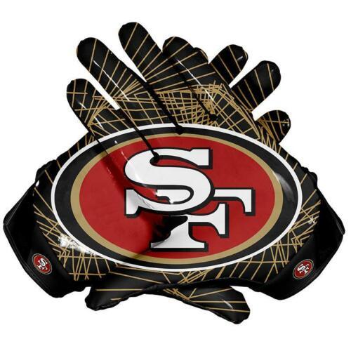 American San Francisco Team NFL Football Gloves With Glue Grip