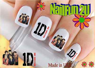 """RTG Set#581 CHARACTER """"1D Red One Direction #1"""" WaterSlide Decals Nail Transfer"""
