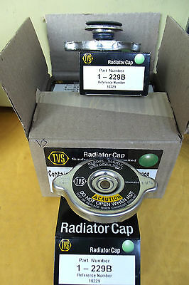 6 RADIATOR CAPS 229B QUALITY MEETS OR SUPERSEDES LEADING BRAND BY TVS.15.9.