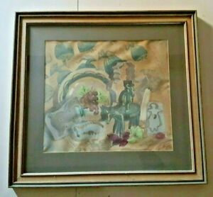 Folly-Cove-Designers-Watercolor-Matted-Framed-amp-Signed-SAL-FRANTZ