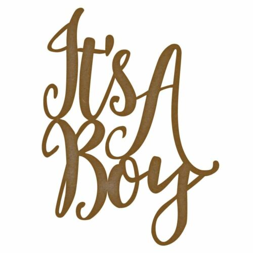 its a boy MDF Laser Cut Craft Blanks in Various Sizes
