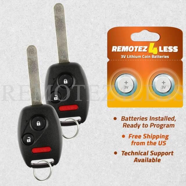 Key 2 Car Fob Keyless Remote For 2005 2006 2007 2008 2009 2010 Honda Odyssey