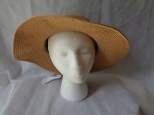 2f6b0e980c6 August Hat Company Women s Beige Packable Adjustable Floppy Sun Hat ...