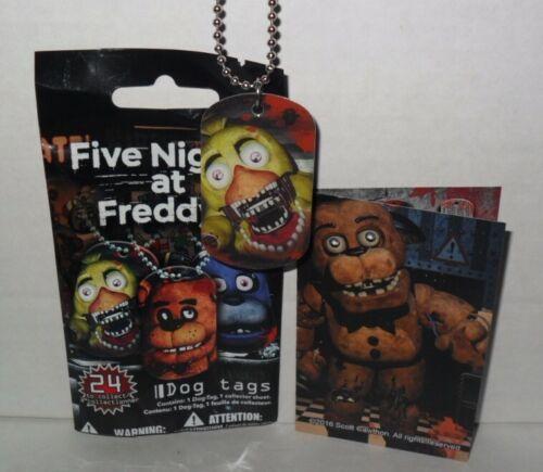 2016 FIVE NIGHTS AT FREDDY/'S SINGLE DOG TAG #2 NEW