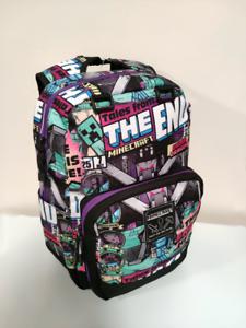Minecraft-Ender-Dragon-Tales-From-The-End-Backpack-School-Bag-Laptop-UK-Seller