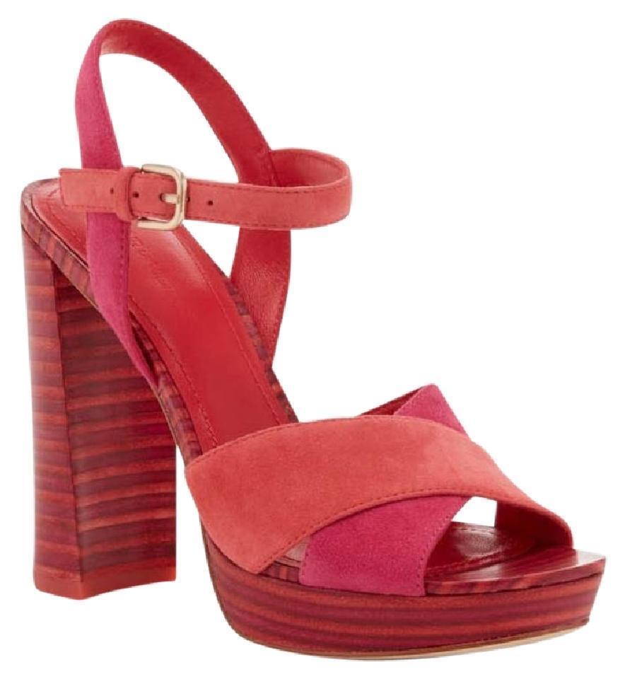 275 Pour La Victoire Yasmin Sandals 9.5 Flame Pink Shoes 9 1/2