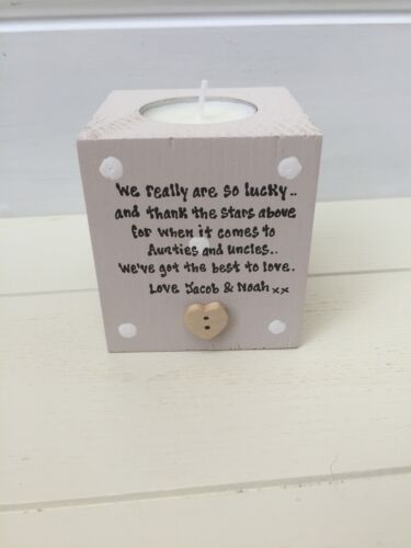 Auntie /& Uncle PERSONALISED GIFT Aunty Great Aunt /& Uncle Any Name Candle Gift..