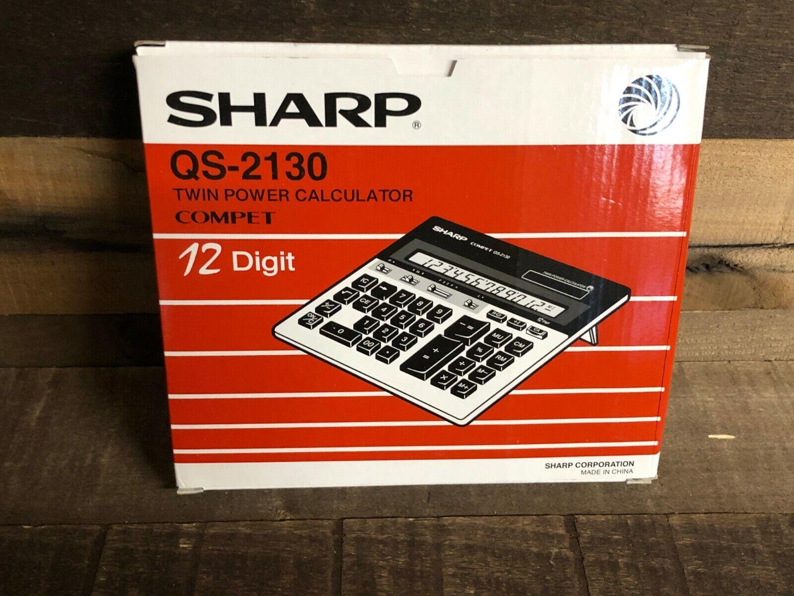 Sharp QS-2130 Compact Desktop Calculator 12-Digit LCD QS2130