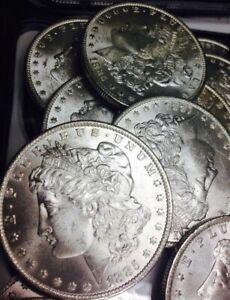 1-Uncirculated-BU-MS-1878-1904-Morgan-Silver-Dollar-Bulk-Lot-Coin-Collection