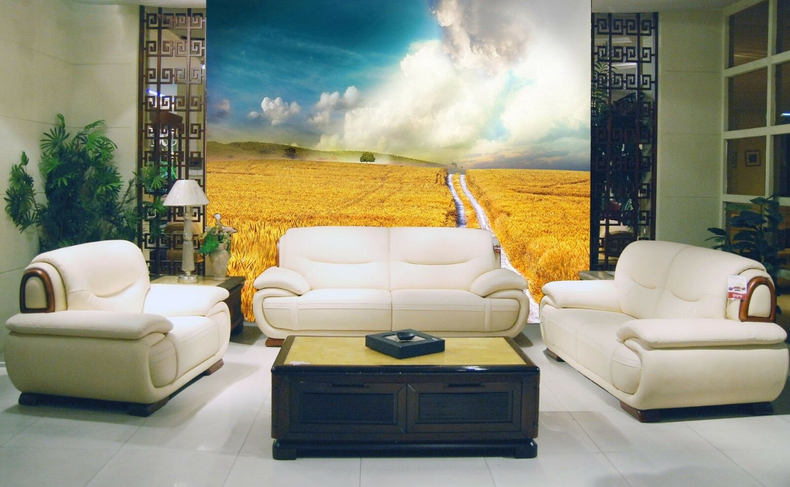 3D Golden Rice Field 46 Wall Paper Wall Print Decal Wall Deco Indoor Mural Carly