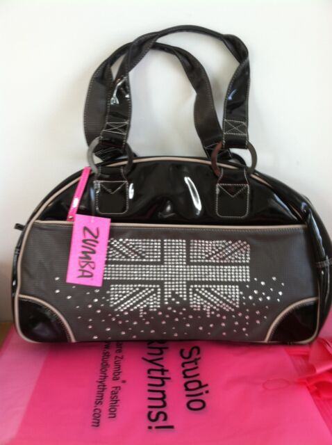 Zumba London Love Bowler Bag Tote U.K Harrods & Convention*Gym*Purse*$164 Retail