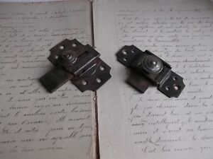 French-antique-iron-latch-locks-bolt-set-of-2-c-1900-30-country-hardware