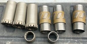 3-New-Conventional-Drilling-Core-Bits-2-Catchers-3-shells-NWD4-8-Drill-Rig
