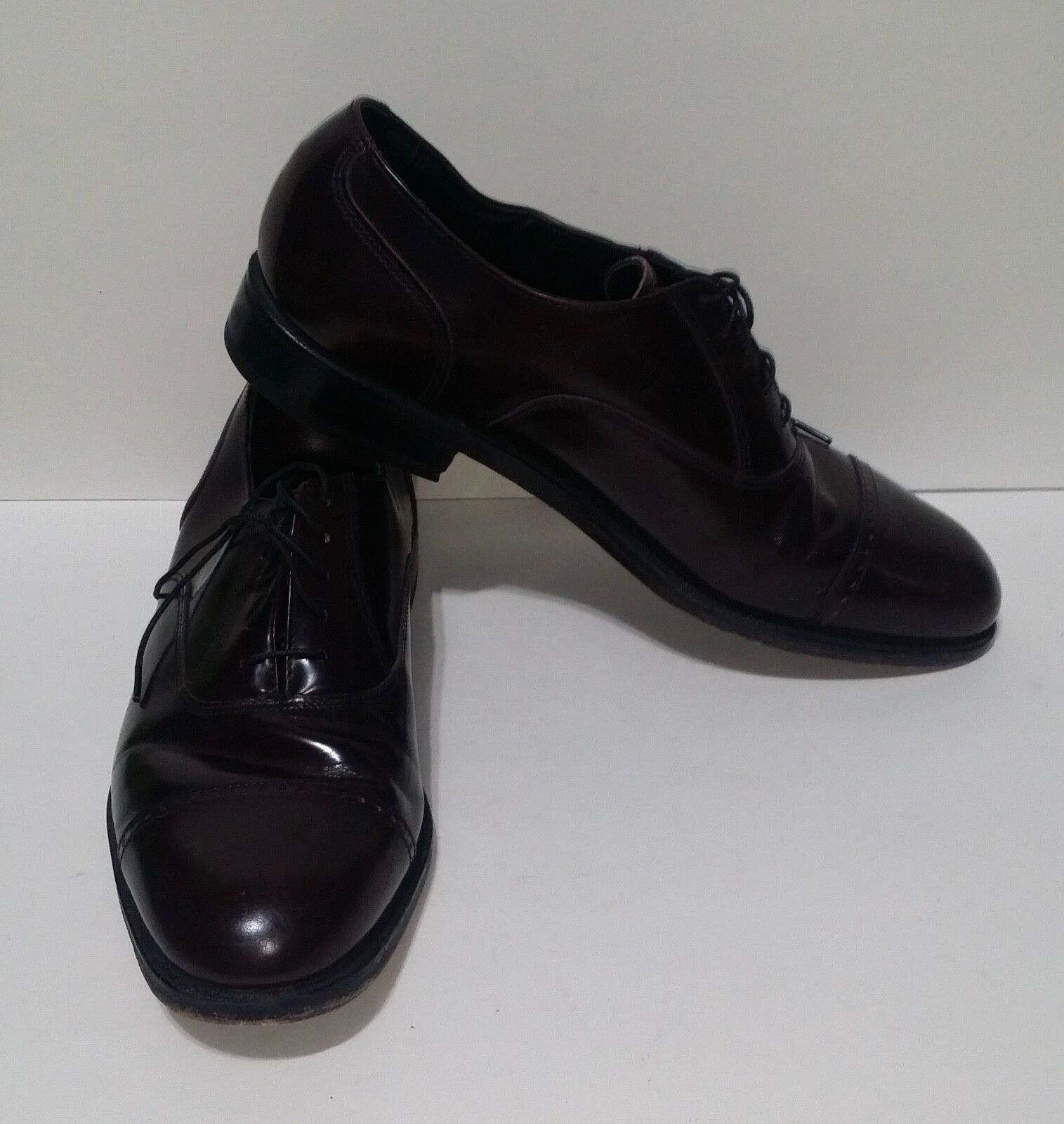 Florsheim Brown Leather Captoe Lace Up shoes Mens Size 8 D