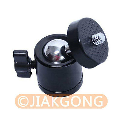 "Mini Ball Head 1/4"" Screw 360 Swivel for DSLR Camera Tripod Ballhead Stand"
