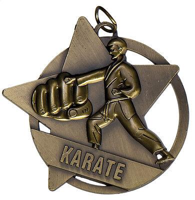Ribbon /& POST 1 x MARTIAL ARTS 50mm KARATE TAEKWONDO JUDO medal FREE Engraving