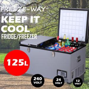 Freeze-Way 125L Car Boat Portable Fridge Freezer Home Cooler Camping Caravan