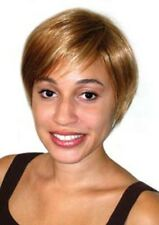 SHORT STRAIGHT HAIR CHIC SALON STYLE BOY CUT WOMAN PIXIE WIG WITH BANGS CHER